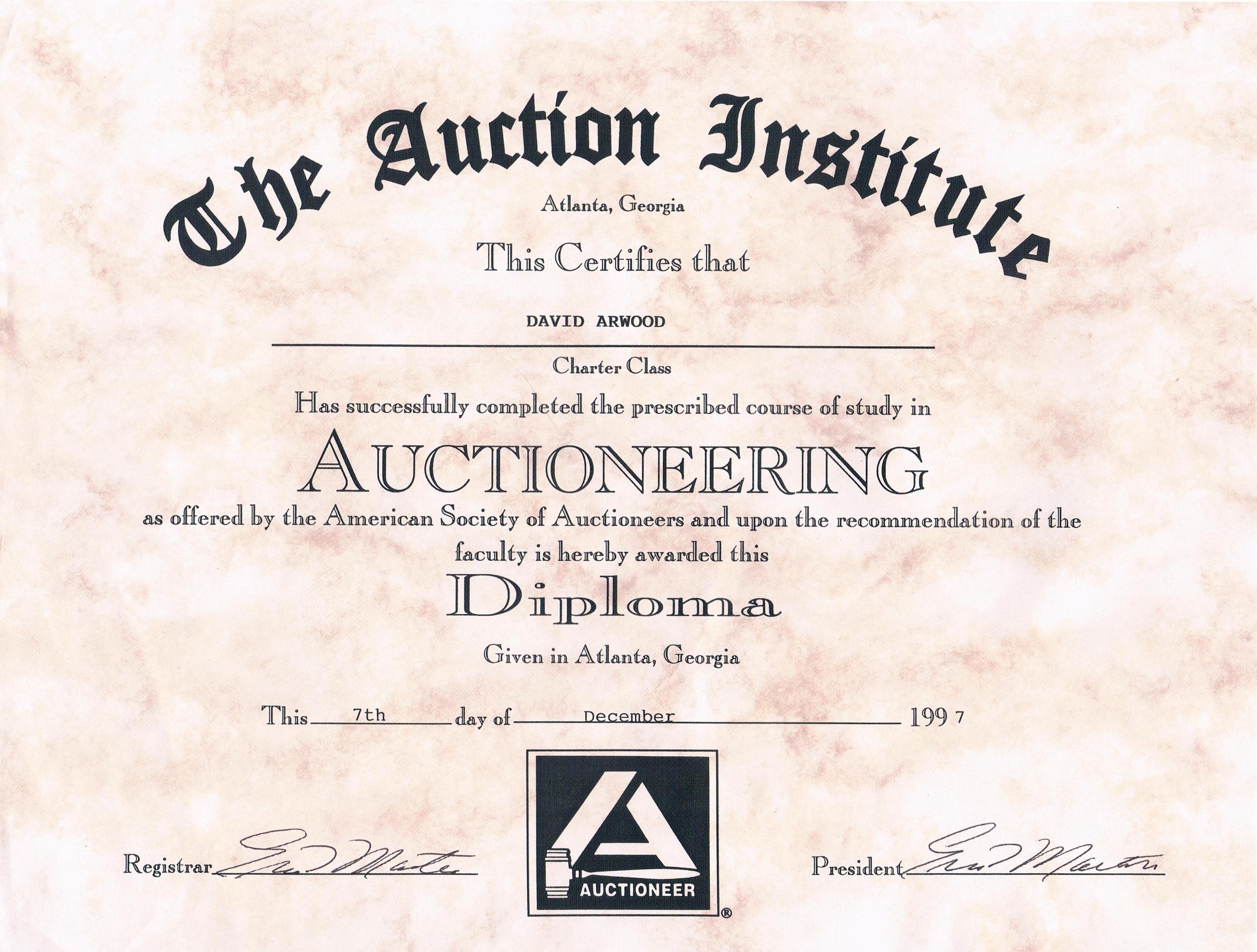 Credentials Arwood Appraisal Llc